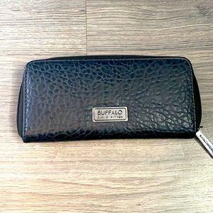 Buffalo Snakeskin Black Wallet